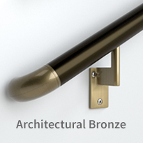 Architectural bronze handrails
