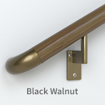handrail - black walnut