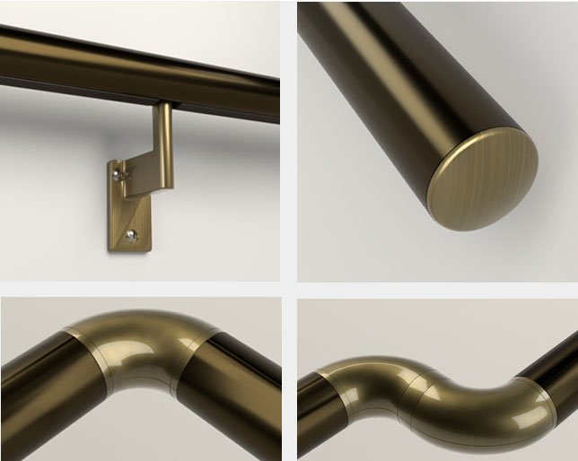 Different components of Handrails