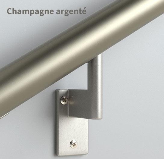 Main-courante champagne argenté