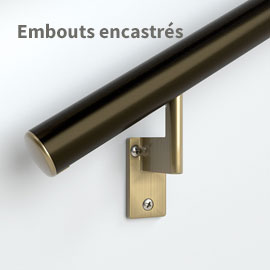 Embout pour main-courante bronze architectural
