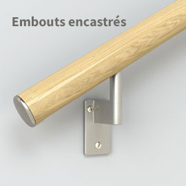 Embout pour main-courante chêne rouge